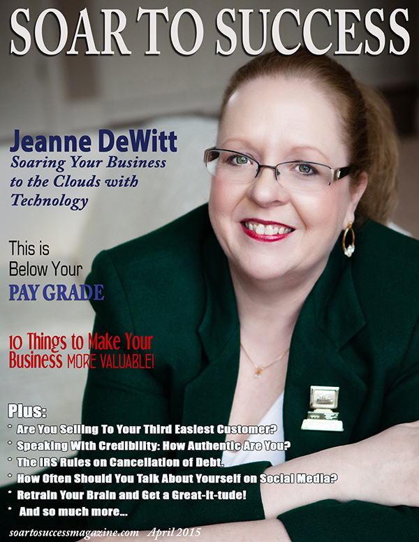Jeanne DeWitt Soar To Success April 2015