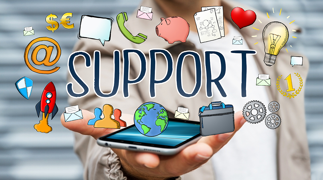 ask for support